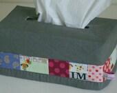 Pattern: Tissue box cozy. Patchwork tissue box tutorial.