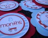 Wagon Themed Birth to 12 months Circles- You choose the colors
