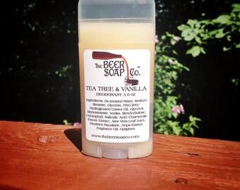 Tea Tree and Vanilla Natural Vegan Body Deodorant 3 oz