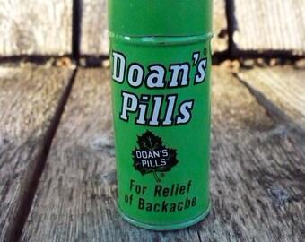 Small Doan's Pills round tin
