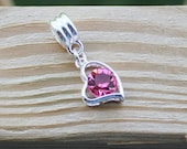 Pugster Silver Plated Heart Crystal Dangle