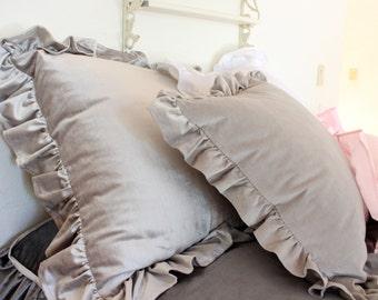 MARCY...BED PILLOW..1 cover...velvet