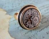 Sphere- Steampunk Ring - Repurposed - recycled