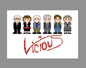 Vicious Pixel People Cross Stitch Pattern PDF ONLY