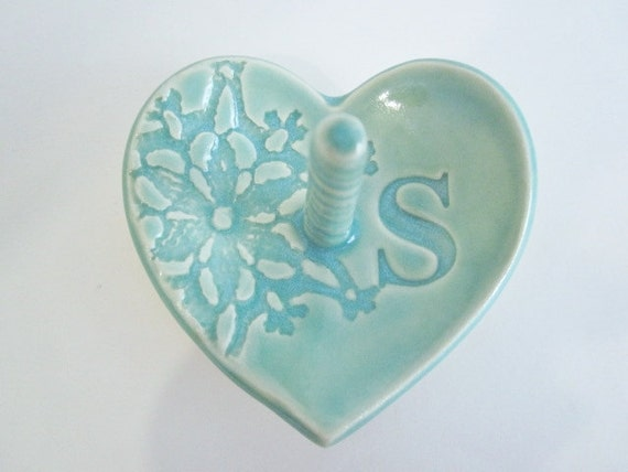 ceramic engagement ring dish ring holder gift for