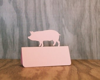 Pig Place Cards Set of 50 Meal Choice pork