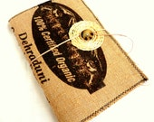 Earth Friendly Burlap Journal Eco Friendly Recycled Rice Bag Journal