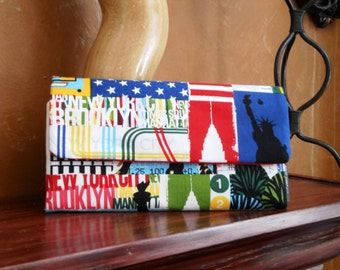 I Love New York Wallet / Wristlet / Cell Phone  / Check Book / Credit Card / Coin /
