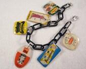 Retro Advertising Charm Bracelet - Vintage Dutch 60s Charms - OOAK