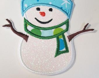 Iron On Applique - Winter Snowman