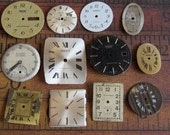 Vintage Antique Watch  Assortment Faces - Steampunk - Scrapbooking R7