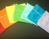 Solid Color Tuckables Pouch, Small (4 x 4) - Cloth Menstrual Pads, Wipes, Snacks, & more