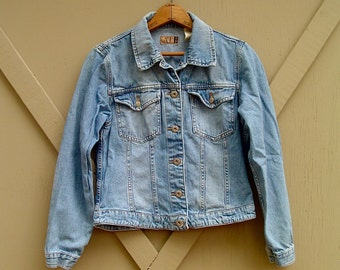 90s vintage Ann Taylor Cropped Denim Jean Jacket