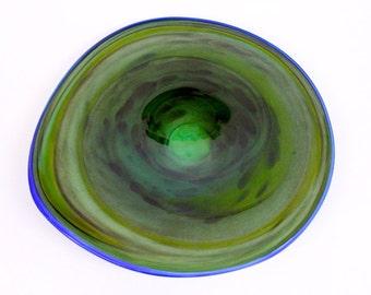 Wall Art Glass Blown Platter 129