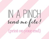 Printable Sweet Sanity File - IN A PINCH