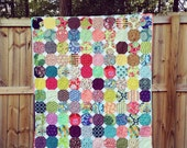 Snow Day Quilt, You choose Size and color palette