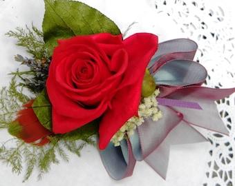 Language of Flower Corsage Dried Flowers  Birthday