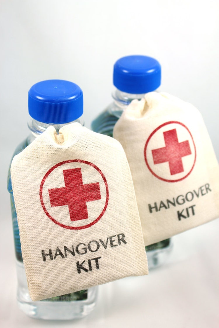 Wedding Favor Bags DIY Hangover Kit Set of 10 by 1PixiePlace
