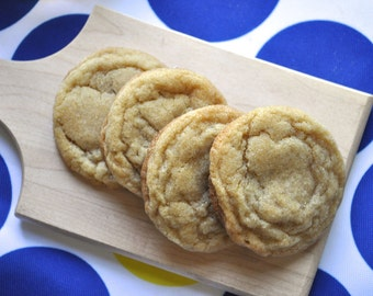 Browned Butter & Bourbon Brown Sugar Cookies - 2 dozen cookies