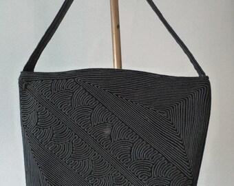 Vintage 1940's Corde Black Handbag
