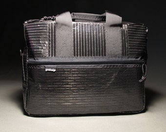 Carbon Fiber Briefcase - Black - Vegan Briefcase - Mens Bag