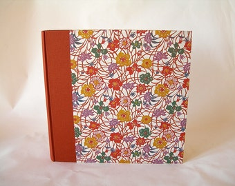 Photo album - cinnamon - rust wildflower katazome(12x12in 30x30cm) - Ready to ship