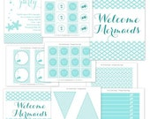 Mermaid Party Printable Party Collection by The TomKat Studio