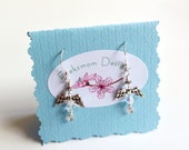 Angel earrings crystal wirework hand made