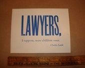 set of 5 LAWYER GREETING CARDS with Envelopes Attorney Gift Notes Letterpress