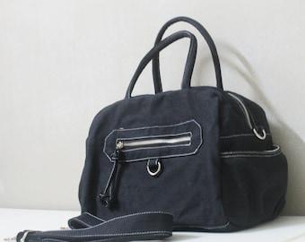 Back To School SALE - 20% OFF HerMate in Black / Sling bag / Handheld / Hip bag / Everyday Purse / Hobo / Women / For her / Gift ideas