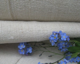 C 805 antique hemp linen roll 16.94y pale FRENCH STYLE upholstery cushion fabric lin wedding decor curtain