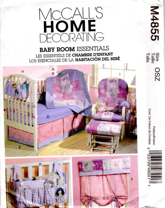 Baby Bedroom Essentials: McCalls Home Decorating M4855 Sewing Pattern By