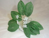 Collectible Handwired Beaded Flower Branch