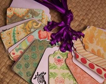 Handmade Luxury Gift Tags - Sweet Tweets Set of 10 tags