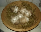 Jute Wrapped Eggs with Lace, Primitive, Primitive Chic, Easter, Eggs, Weddings, Home Decor. OFG. FAAP, HAFAIR, Dub