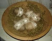 Jute Wrapped Eggs with Lace, Primitive, Primitive Chic, Easter, Eggs, Weddings, Home Decor. OFG. FAAP, HAFAIR, Dub
