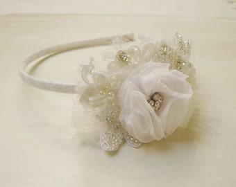 Lace Beaded hairband, beaded headband, Headband accessory, hair accessories, hair accessory, headpiece for women,  bead embroidery, sparkle