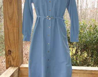 1970's SERBIN Rockabilly Western Cowgirl Rodeo Dress Sz 10 Cowboy Snaps (020614)