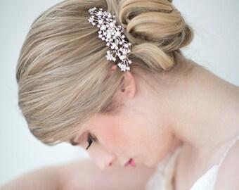 Wedding Hair Comb,  Bridal Head Piece, Crystal and Pearl Hair Comb, Wedding Hair Accessory