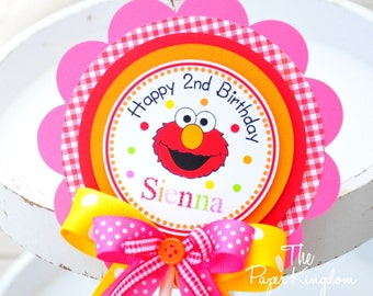 Elmo Cake Topper, Elmo Birthday Party, Girl Elmo Birthday Party, Smash Cake Topper