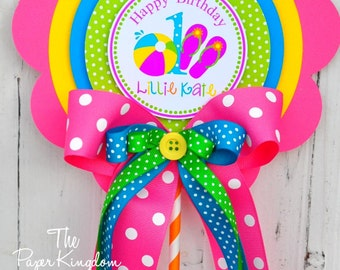 Beach Summer Centerpiece, Beach Party Decorations, Flip Flops,  Pool Birthday Party