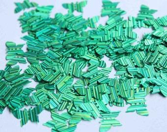100 Butterfly Sequins..........Metallic Green / KBIS224