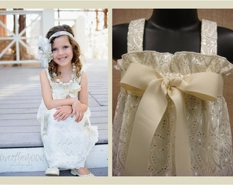 Ivory Fancy Eyelet - The Perfect Flower Girl or Special Occasion Dress