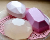 Jewel Soap Set of 3 - Gemstone Vegan Soap - Gift Idea - Springtime - Soap for Her