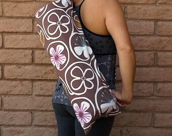 XL Handmade Yoga Mat Bag NEUTRAL DAISIES