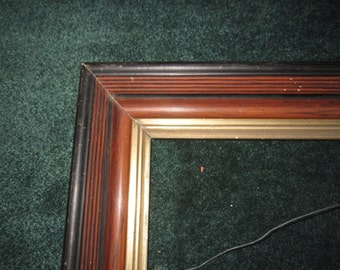 Antique Victorian Beautiful Walnut Picture Frame for 14x9 Artwork or Image