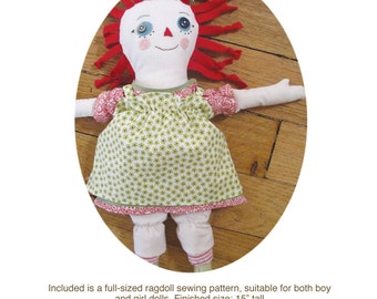 Ragdoll with Clothes Sewing Pattern PDF