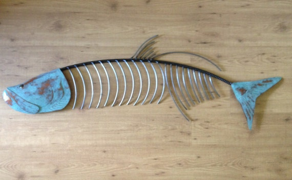 Tarpon Fish 60in  Metal Wall Sculpture art Tropical Coastal Beach
