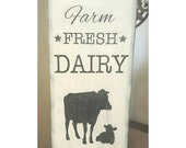 Farm Fresh Dairy Handpainted Sign