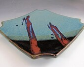 Pottery Sushi Plate for appetizers and entertaining